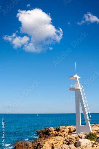 El Trampoli beach Denia in Alicante Mediterranean sea Poster