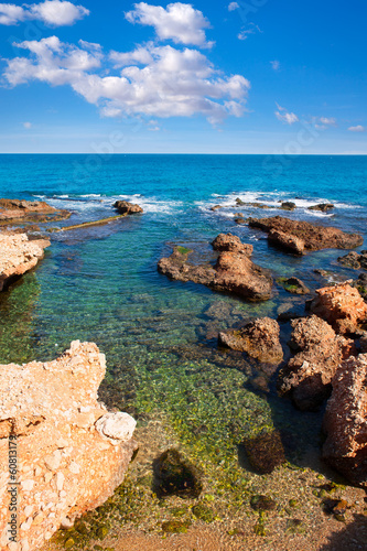 Las Rotas beach Denia in Alicante Mediterranean Spain Poster