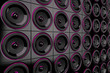 Lautsprecher Wand - Schwarz Pink