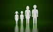 Die kleine Familie grün