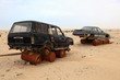 Abandoned cars in the desert. Qatar, Middle East