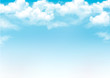 Blue sky with clouds. Vector background - 60814564