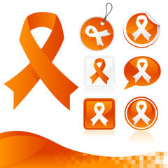 Orange Awareness Ribbons Kit