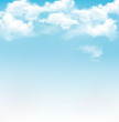 Blue sky with clouds. Vector background - 60814755