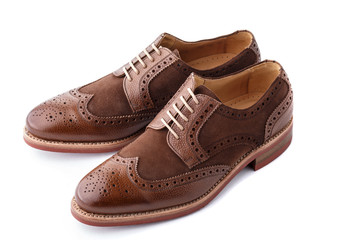 Pair of two tone mens brogues