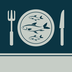 Fish, Fork and Knife icon