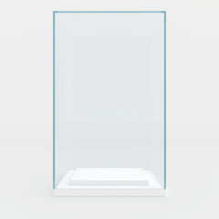 high glass showcase