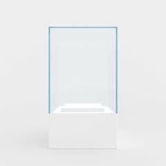 showcase performance of blue glass