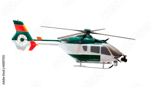 model of a helicopter on white background