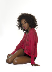 Beautiful exotic young African American woman