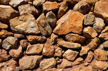 Masonry texture in Spain Mediterranean ancient wall