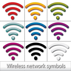 Wireless network symbols