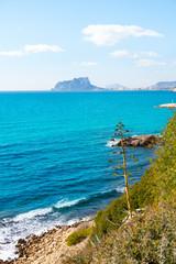 Ifach Penon view from Moraira alicante in Mediterranean