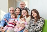 joyful three generations family