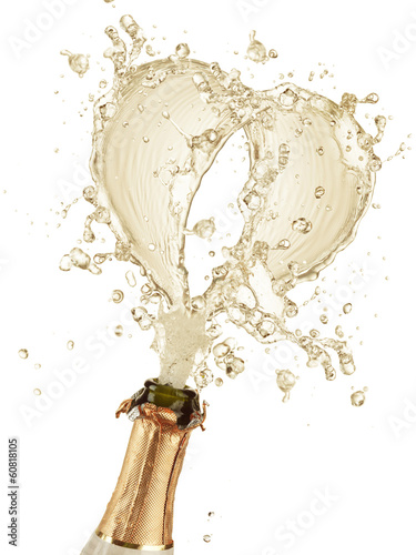 Explosion of champagne