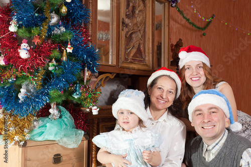 Family Christmas portrait
