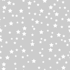 seamless pattern of white stars on a gray background.holiday bac