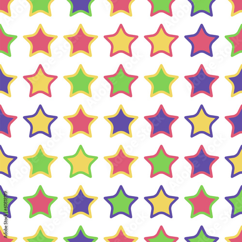 seamless pattern of colorful stars on a white background.star ba
