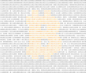 Bitcoin symbol binary code