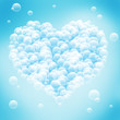 Valentine's Day - abstract blue background with heart shape.