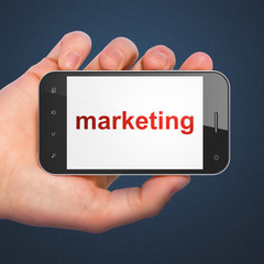 Advertising concept: Marketing on smartphone