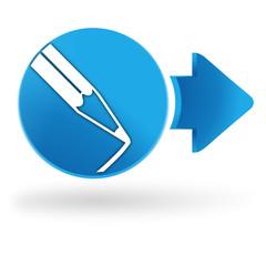 dessin sur symbole web bleu