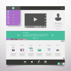 Modern Website Template Design