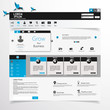 Web Design, elements, buttons, icons. Templates for website.