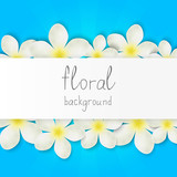 Floral border with place for text