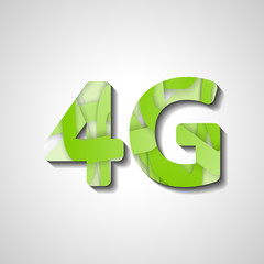 4G latest wireless communication, abstract symbol