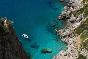 Rocky coastline, Capri island (Italy)