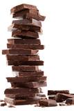Fototapety Dark chocolate bars stack