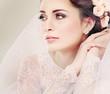 Portrait of beautiful bride. Wedding dress. Wedding decoration - 60822913