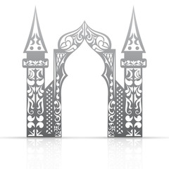 Background with arch in the Asian style
