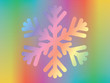 snowflake over spectrum background