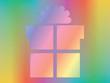 present over spectrum background