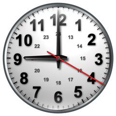 9 bw clock