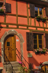 France,  small village of Kaysersberg in Alsace