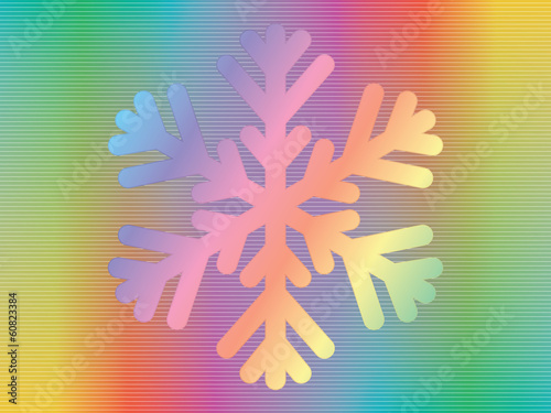 snowflake over spectrum background