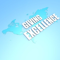 Giving excellence world map
