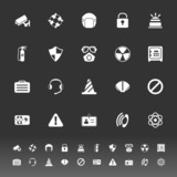Safety icons on gray background