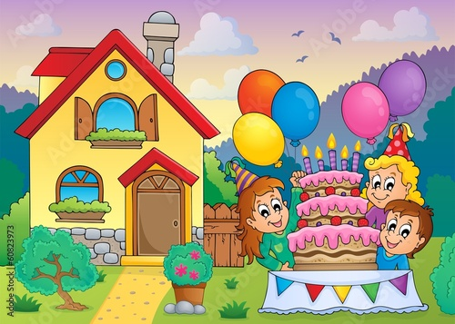 Kids party near house 1
