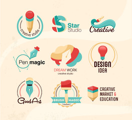Creative design badges