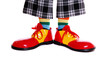 Closeup of clown shoes on white background - 60824376