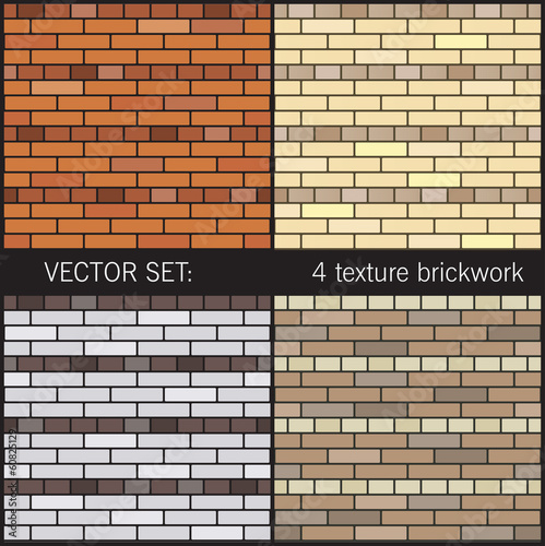 4 texture brickwork of the American fence