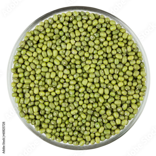 Mung beans isolated on white background with clipping path