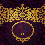 Vector baroque frame in Victorian style. Element for design.