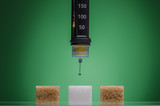 Insulin pen and sugar cubes