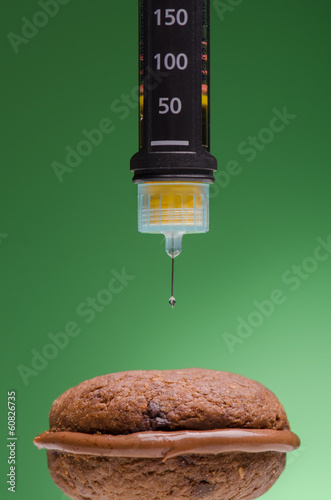 Insulin pen and cookie