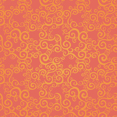 Vector seamless pattern with swirls motifs.